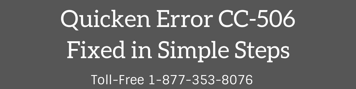 Quicken Error CC-506 (Fixed in 3 Simplest Ways) - When Using Online