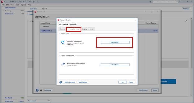 Quicken Error OL-393-A in Windows/Mac (When Updating Online Accounts)