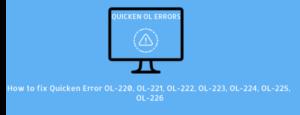 Quicken Error OL-220, OL-221, OL-222, OL-223, OL-224, OL-225, OL-226