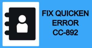 Simple Steps To Resolve Quicken Error CC-892