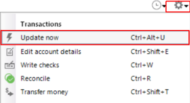 quicken 2019 not downloading transactions