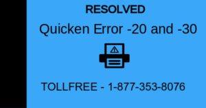 Quicken Error -20 and -30 (Printing from Quicken PDF Printer)