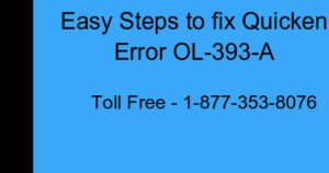 Read more about the article Quicken Error OL-393-A For Windows/Mac