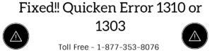 Quicken Error 1310 or 1303 (When Installing Quicken)