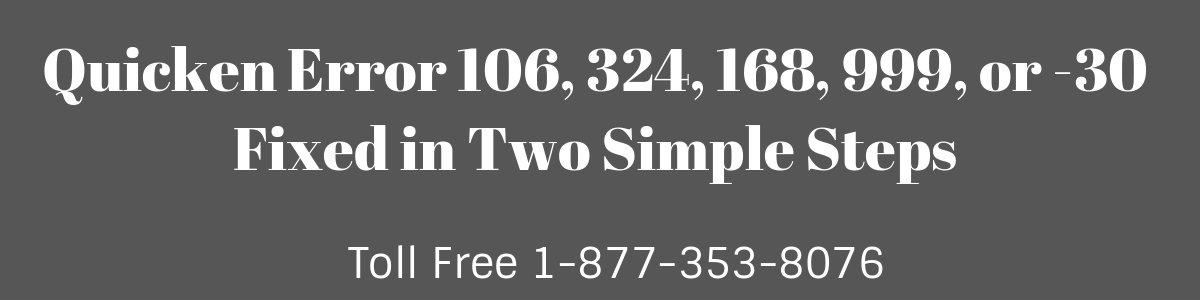 Quicken Error 106, 324, 168, 999, or -30 (Quicken For Mac)   Fixed