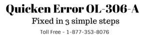 Quicken Error OL-306-A (When Using Online Services)