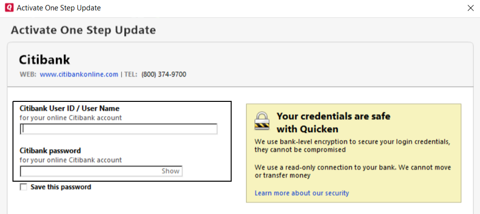 Unable to Download Transactions in Quicken | Call Us 1-877
