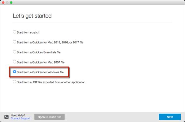 Transferring Quicken From Windows to Mac