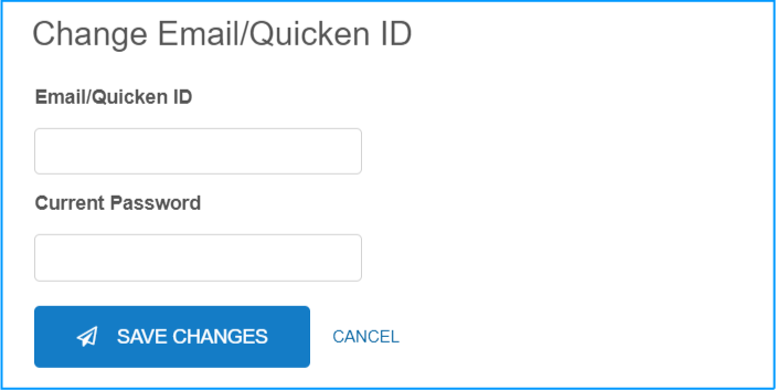 Update Your Quicken Account Profile Information