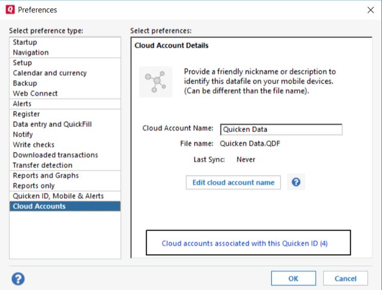 Edit or Delete Quicken For Windows Cloud Data