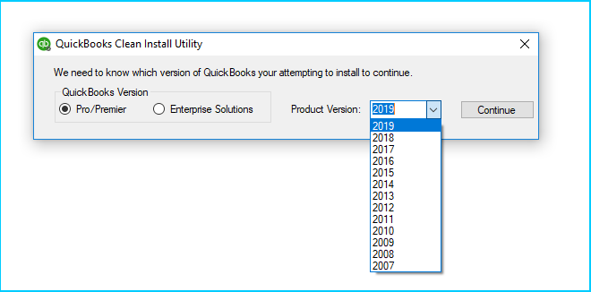 Reinstall QuickBooks using Clean Install Tool (Windows