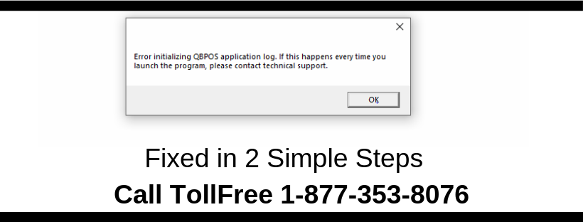 Error Initializing QBPOS Application Log (QBPOS)