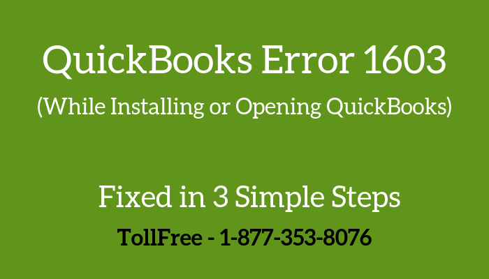 You are currently viewing QuickBooks Error 1603