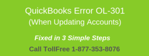 Read more about the article QuickBooks Error OL-301 (When Updating Accounts)