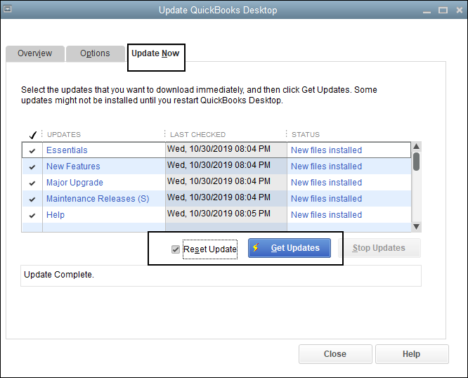 QuickBooks Error 6010 update window