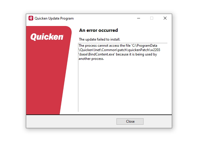 You are currently viewing An Error Occurred: The Update Failed to Install in Quicken